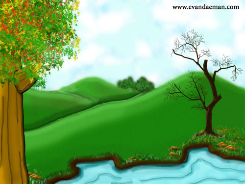 This was a Photoshop project. Project was to create a background for ...