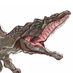 Drawing of a Dinosaur in Photoshop by Evan
