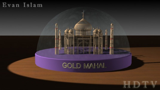 Wireframe Taj Mahal done in 3D Max