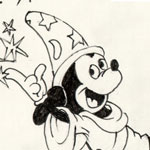 Drawing of Mickey Mouse by Evan Islam
