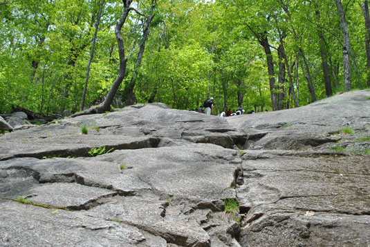 Rock climbing at Mt. Monadnock