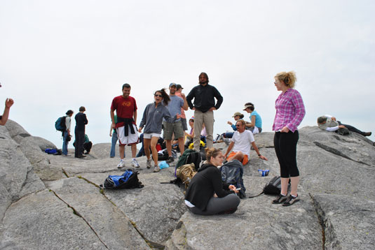 At the Summit of Mt. Monadnock