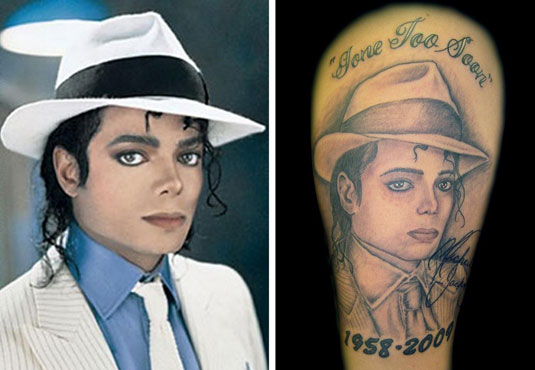 Michael Jackson Tattoo by Frank Diamond