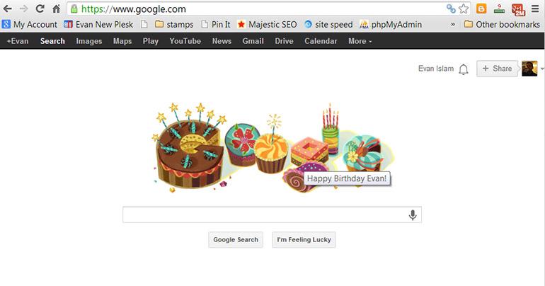 Birthday Google Doodle