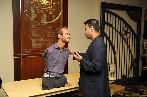 Evan Talking to Nick Vujicic
