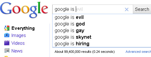What Does Google Suggest When You Search For...