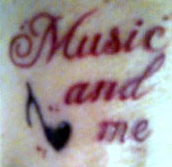 Michael Jackson Tattoo - Music and Me