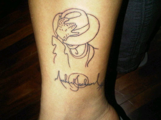 Michael Jackson Line Drawing Art Tattoo