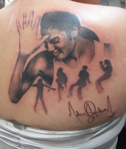 Michael Jackson Tattoo by Ally