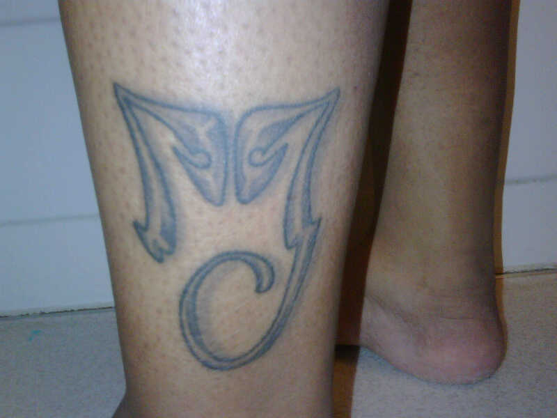 MJ Logo Tattoo Michael Jackson Logo Tattoo Image sent by: Terry Hewitt