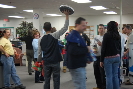 Secret Santa event at Basement Systems