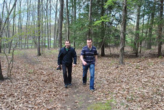 Marcin and Todd at Southford Falls