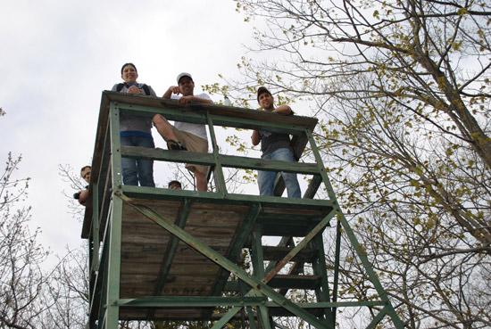 The tower at Southford Falls