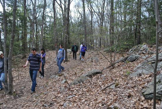 Hiking at Southford Falls