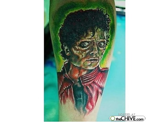 Michael Jackson Thriller Tattoo