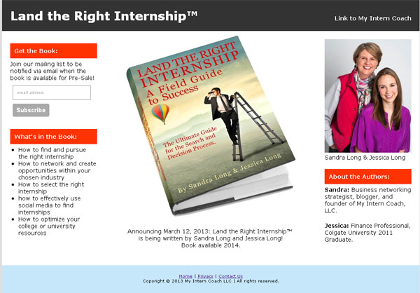 Land the Right Internship Book Site