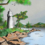 Rocky Shore Drawing | Sketching and Painting a Rocky Shore