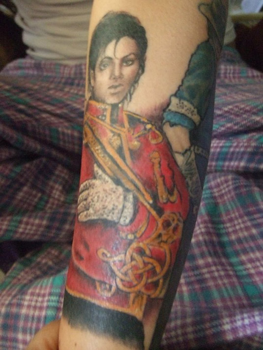 Michael Jackson Tattoo by Leanne