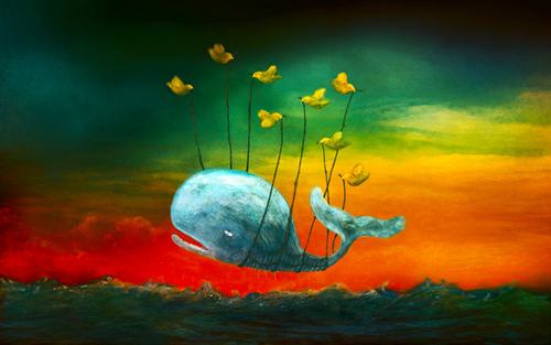 Painting of Twitter Fail Whale