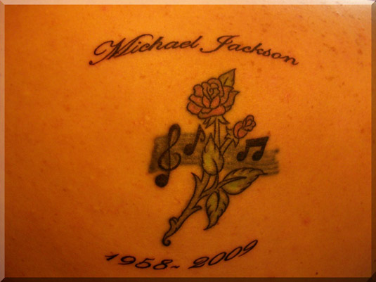 Michael Jackson Tattoo - Rose and Music