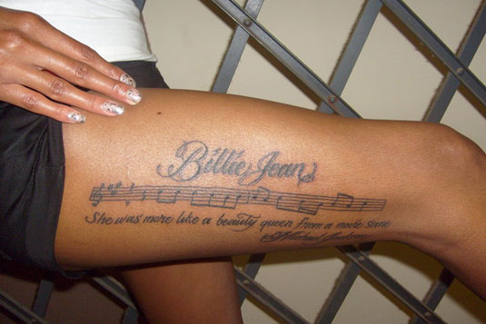 MJ Tattoo - Billie Jeans Lyrics